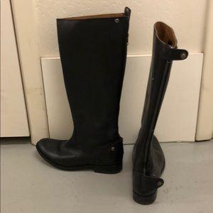 Black Frye boots low heel